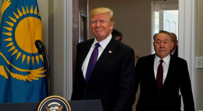 Трампу припомнили похвалу Назарбаева                                                                                                                            Трампқа Назарбаевты мадақтағанын есіне алдырды